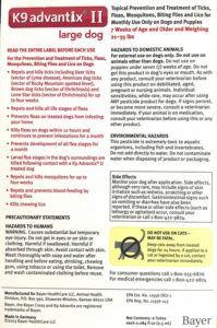 K9 Advantix Warnings