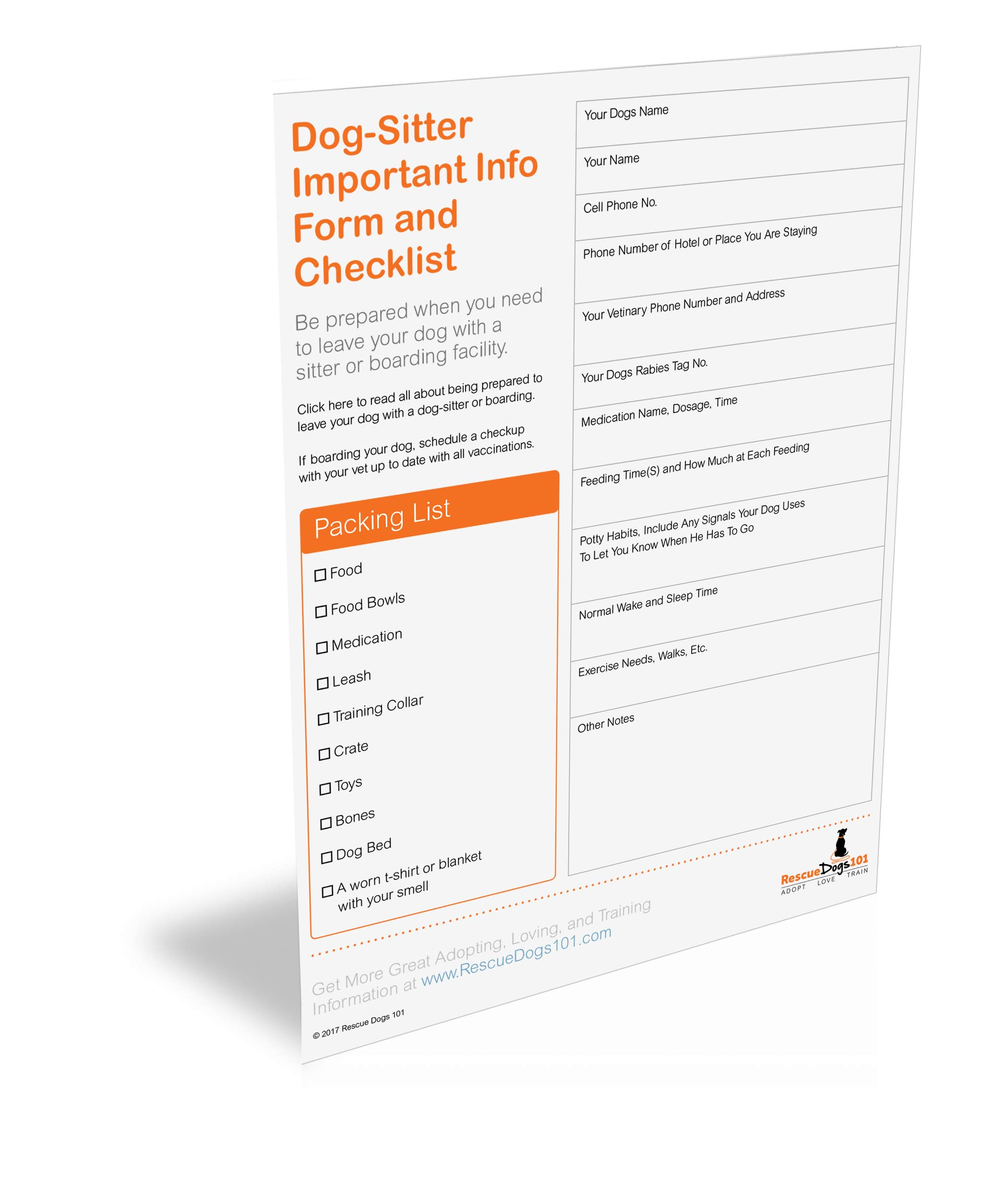checklist for leaving your dog while on vacation rescue dogs 101