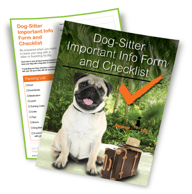 Dog Sitter Info Form Checklist
