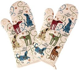 dog lover oven mitts