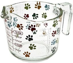 dog paw print measuring cup
