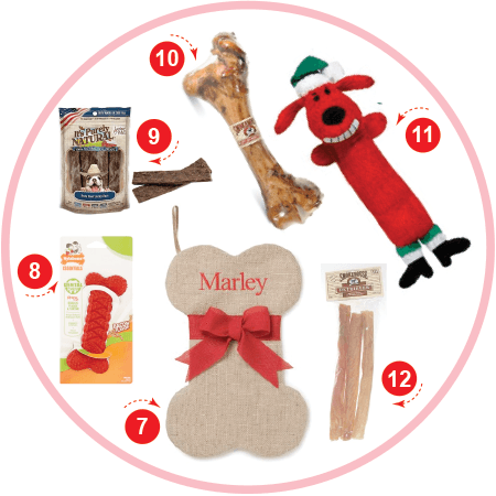 The Treat Lover Dog Christmas Stocking Stuffers