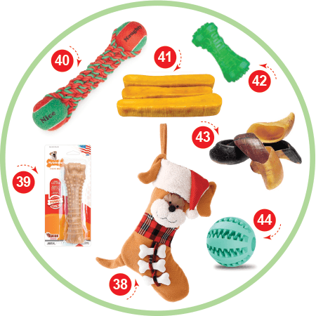 The Dog that loves to chew Christmas Stocking Stuffers for your Dog