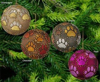 christmas paw print ornaments