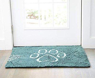 dog paw print door mat