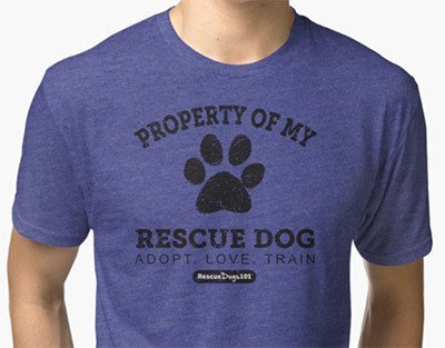 property rescue dog t-shirt