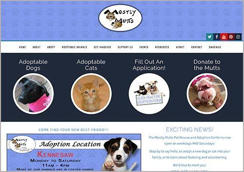 Mostly Mutts Rescue Website