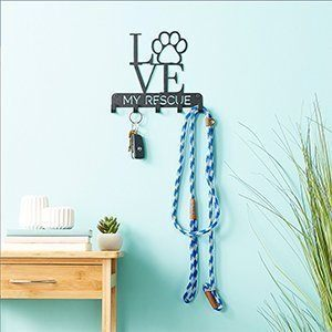 """Love My Rescue"" Dog Leash & Key Holder"