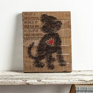Puppy Heart String Art Wall Décor