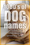 1000's of dog names