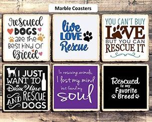 rescue dog coasters