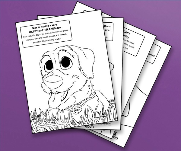 Body Language Coloring Book for Children