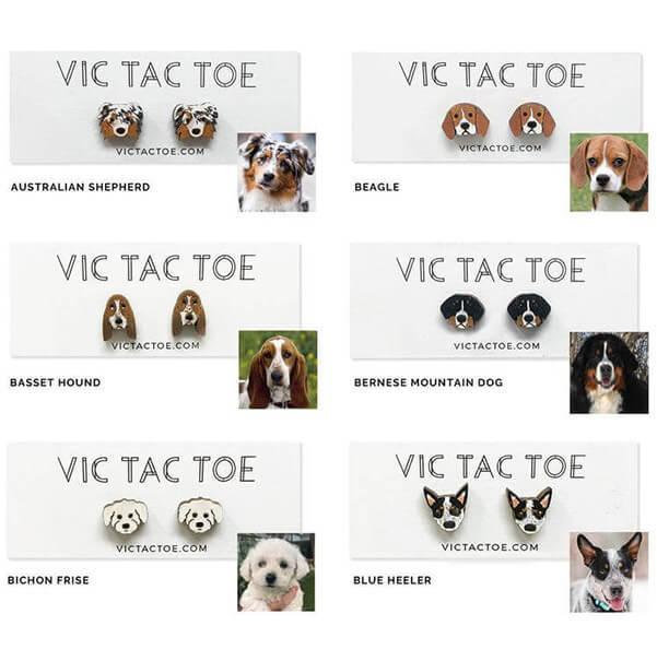 Custom Personalized Dog Earrings