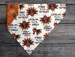 Thanksgiving dog bandana gobble