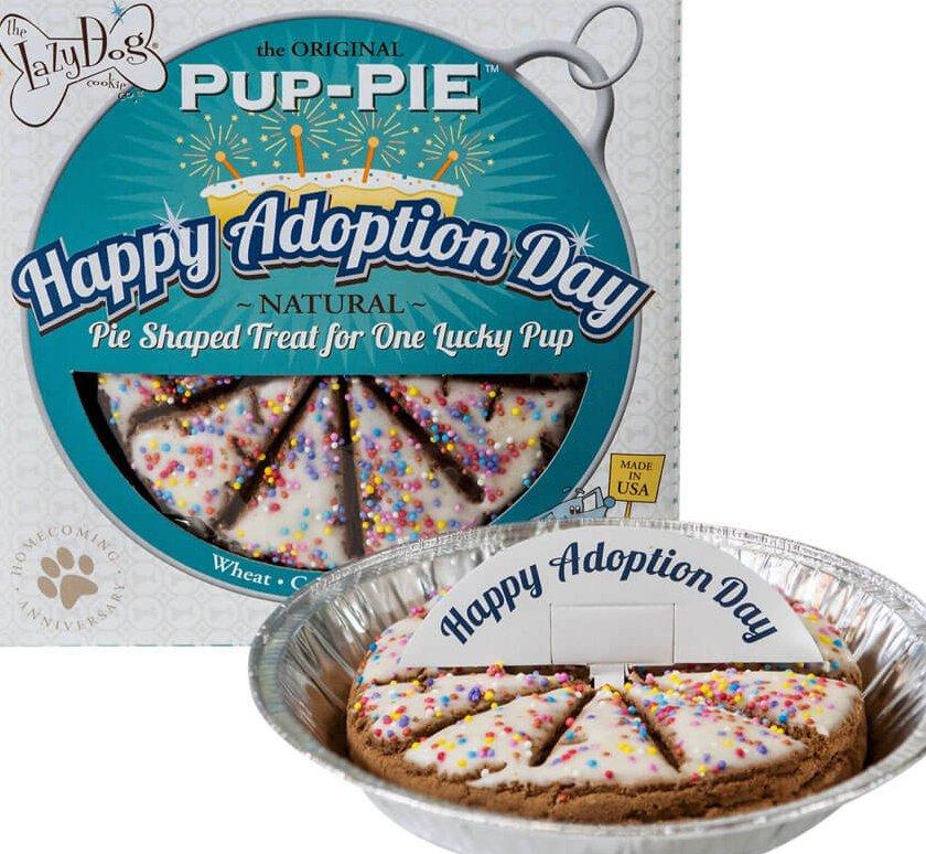 Blue Lazy Dog Cookie Co. Happy Birthday Gotcha Day cake pie